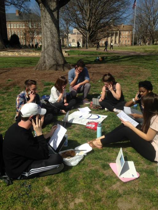 Phone Banking on the Quad - February 2017