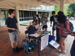 Voter Registration in front of the UL - March 2018