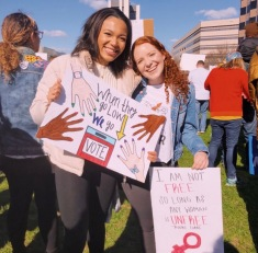 UNC YD Members at the Women's March on Raleigh - January 2020