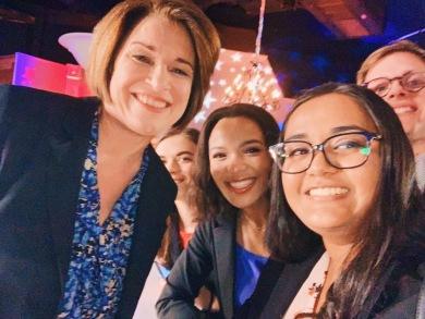 UNC YD Members at a FOX News Town Hall with Senator Amy Klobuchar - February 2020