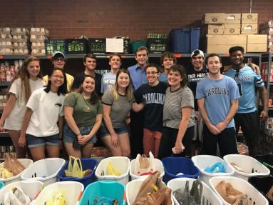 Volunteering at TABLE NC - September 2017