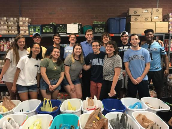 Volunteering at TABLE NC - September 2017