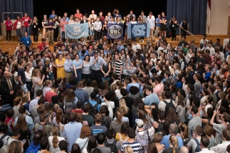 UNC students rallying for presidential candidate Beto O'Rourke